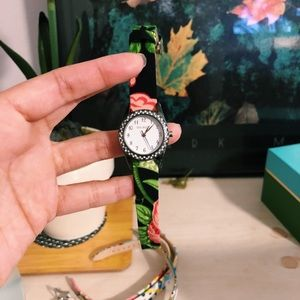 Vera Bradley watch with four interchangeable bands